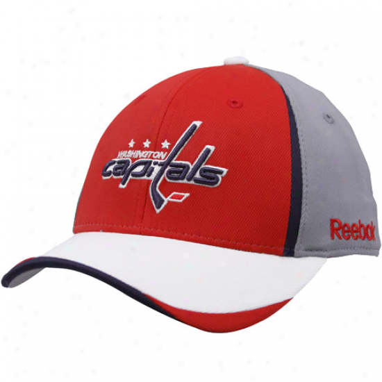 Washington Capitals Gear: Reebok Washington Capitals Youth Gray 201O Draft Day Flex Fit Hat