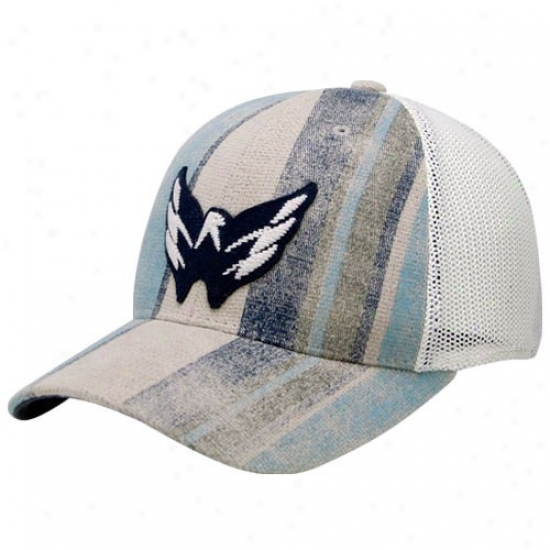 Washington Capitala Hat : Reebok Washington Capitals Gray-white Fashion Flex Fit Cardinal's office
