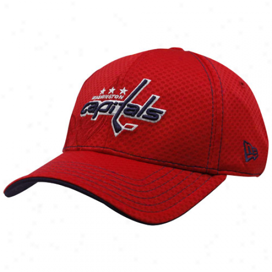 Washington Capitals Hats : New Era Washington Capitals Red 39thirty Stretch Fit Hats