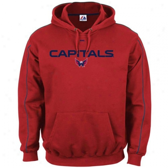 Washington Capitals Hoodies : Majestic Washington Capitals Red Classic Hoodies