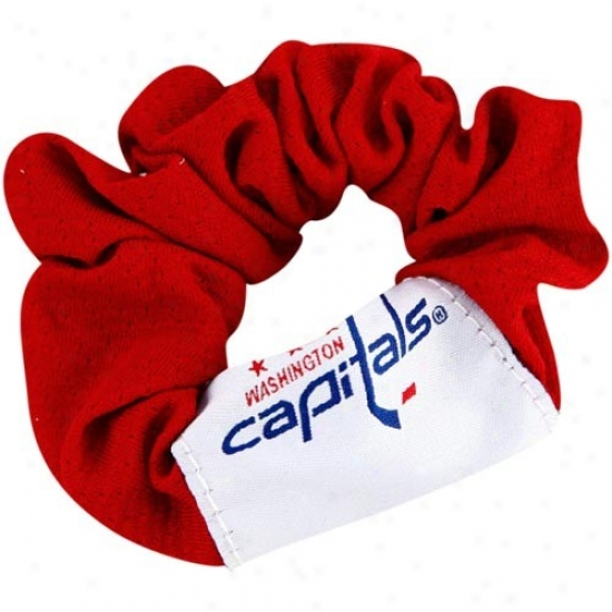 Washington Capitals Ladies Red Hair Twist