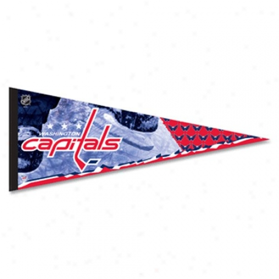 Washington Capitals Navy Blue 12'' X 30'' Premium Felt Pennant
