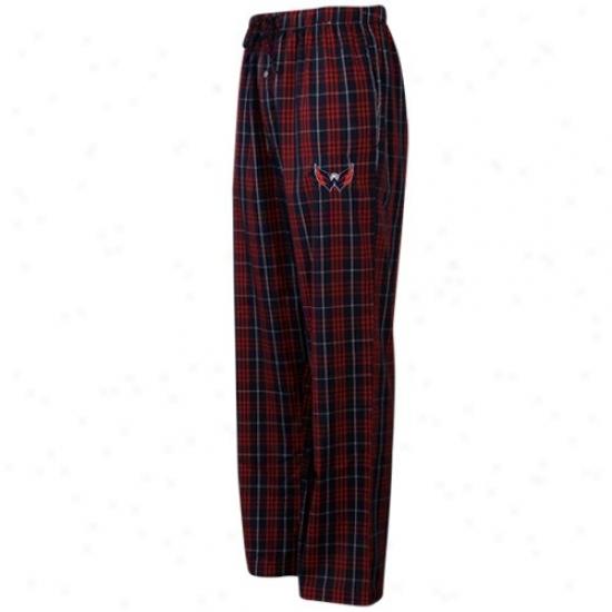 Washington Capitals Navy Blue Plaid Genuine Pajama Pants