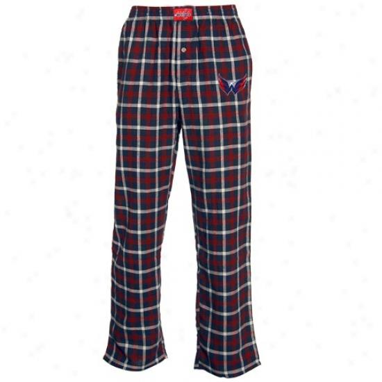 Washington Capitals Navy Blue Plaid Tailgate Flannel Pajama Pants