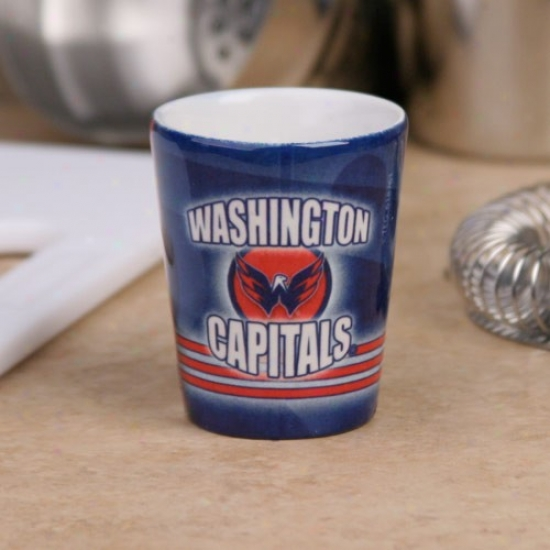 Washington Capitals Navt Blue Slapshot Ceramiv Shot Glass