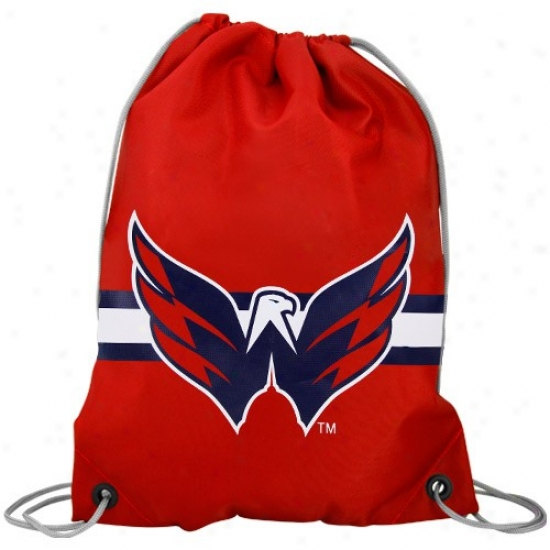 Washington Capitals Red Team Logo Drawstring Backpack