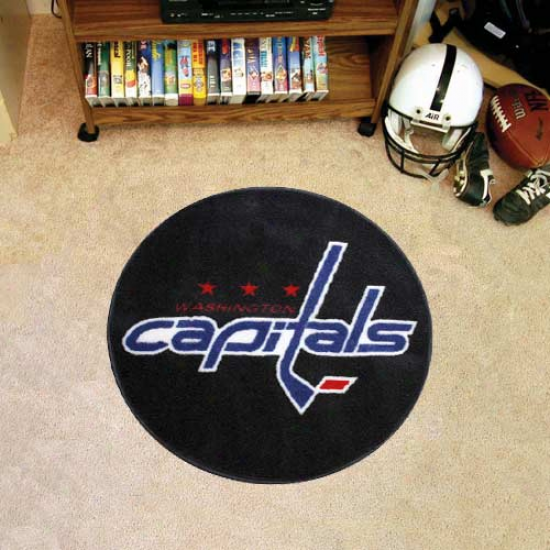 Washington Capitals Round Hockey Puck Mat
