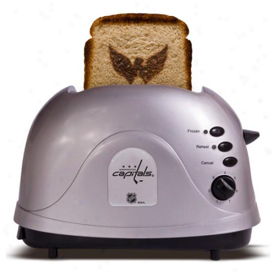 Washingto Capitals Silver Team Logo Pro Toaster