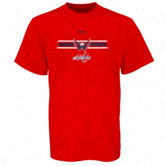 Washington Capitals T Shirt : Majestic Washington Capitals Red Earned Victory T Shirt