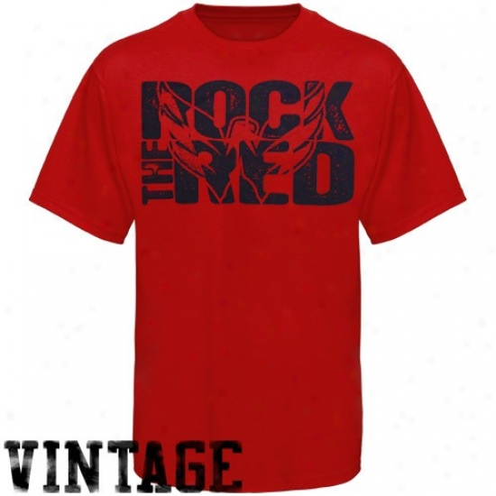 Washington Capitals Tshirt : Old Time Hockey Washington Capitals Youth Red Rock The Red Tshirt