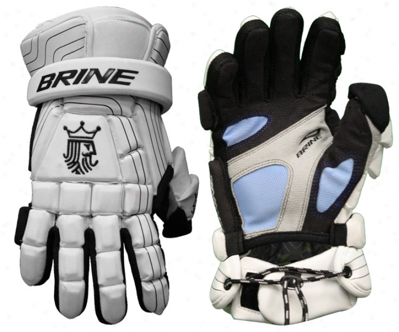 Brine King Superlight Goalie Lacrosse Glovees