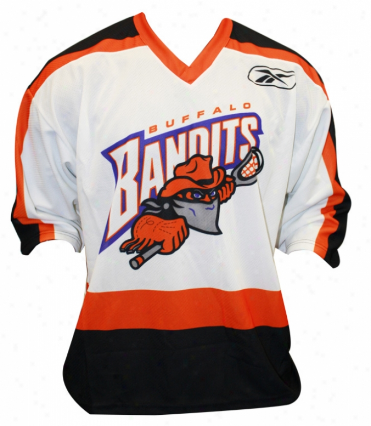 Reebok Buffalo Bandits Sr. Authentic White Jdrsey