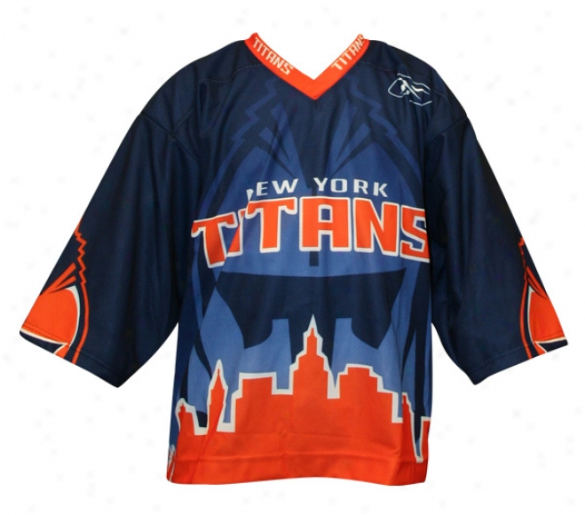 Reebok New York Titans Sr. Authentic Dark Jersey