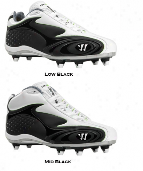 Warriod Burn Detach 2.0 Low Black Lacrosse Cleats