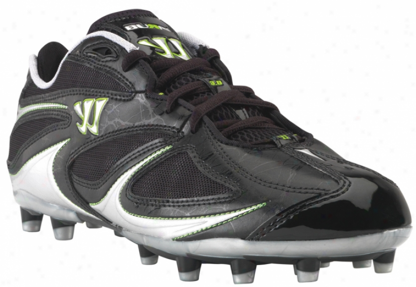 Warrior Burn Speed 3.0 Molded Low Black Lacrosse Cleats