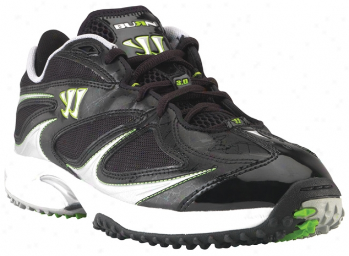 Warrior Burn Turf 3.0 Low Black Lacrosse Cleats