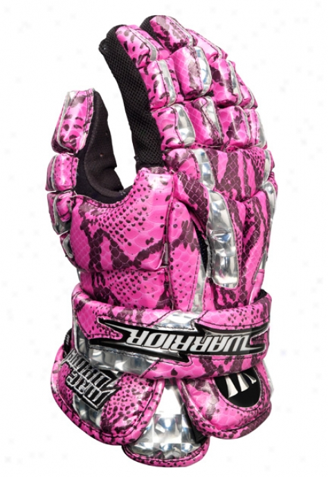 """warrior Mac Daddy Glove Limited Edition 13"""" Pink Gator"""