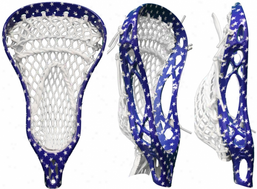 Warrior Mojo X Usa Star Strung Lacrosse Head